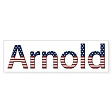 Arnold Stars and Stripes Bumper Bumper Sticker