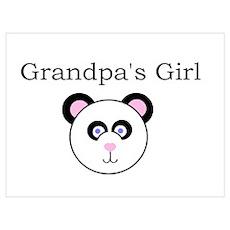 Grandpa's Girl - Panda Poster
