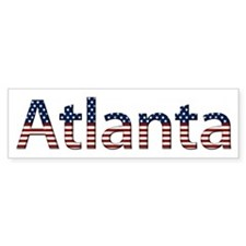 Atlanta Stars and Stripes Bumper Bumper Sticker