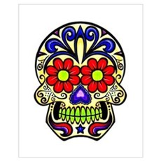 Sugar Skull Canvas Art