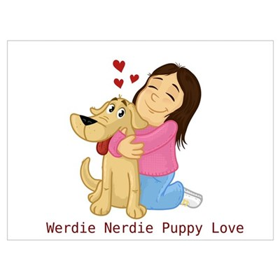 Werdie Nerdie Puppy Love Canvas Art