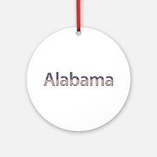Alabama Stars and Stripes Round Ornament