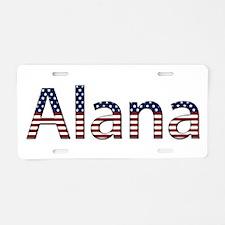 Alana Stars and Stripes Aluminum License Plate