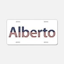 Alberto Stars and Stripes Aluminum License Plate