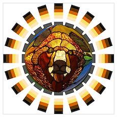 BEAR PRIDE/GLASS BEAR Poster