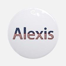 Alexis Stars and Stripes Round Ornament