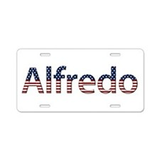 Alfredo Stars and Stripes Aluminum License Plate