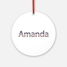 Amanda Stars and Stripes Round Ornament