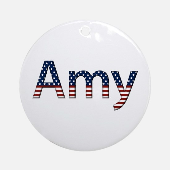 Amy Stars and Stripes Round Ornament