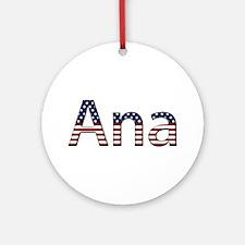 Ana Stars and Stripes Round Ornament