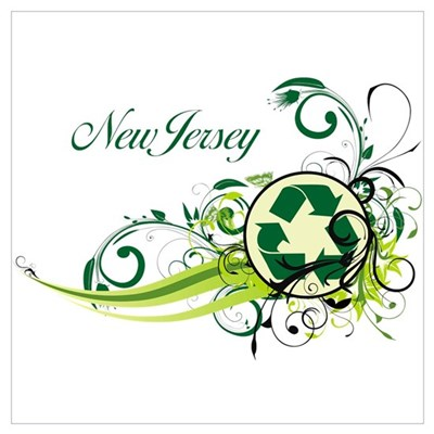 New Jersey Recycle T-Shirts and Gifts Poster