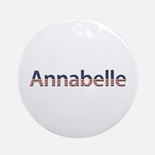 Annabelle Stars and Stripes Round Ornament