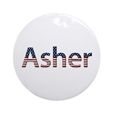 Asher Stars and Stripes Round Ornament