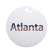 Atlanta Stars and Stripes Round Ornament