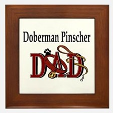 Doberman Pinscher Dad Framed Tile
