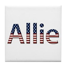 Allie Stars and Stripes Tile Coaster