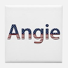 Angie Stars and Stripes Tile Coaster