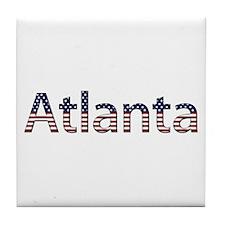 Atlanta Stars and Stripes Tile Coaster