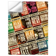 Castle Retro Novel Covers Wall Decal
