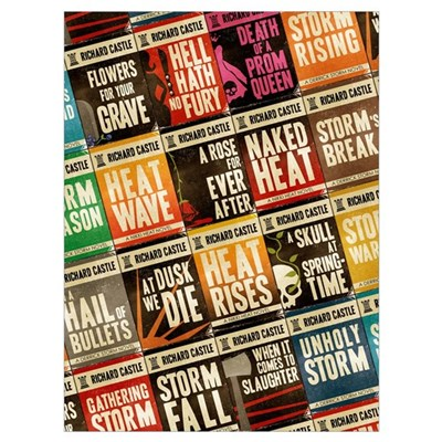 Castle Retro Novel Covers Poster