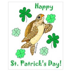 St. Pat's Day Sea Turtle Canvas Art