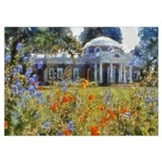 Monticello in Spring Poster