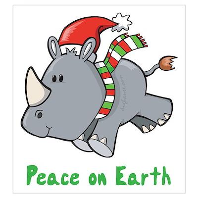 Peace Rhino Poster