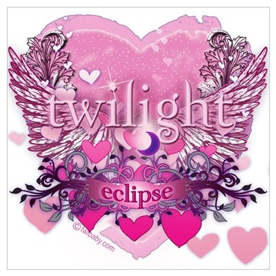 Twilight Eclipse Pink Heart Poster