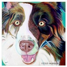Herding Dog Canvas Art