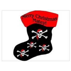 Merry Christmas Matey Poster