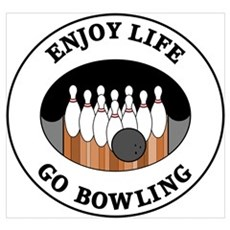 Enjoy Life Go Bowling Framed Print