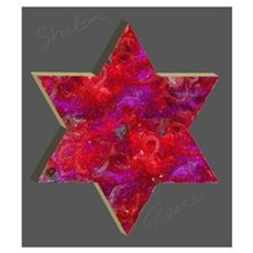 Jewish Star Painting Poster