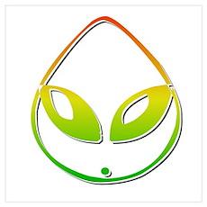 Alien Green Poster