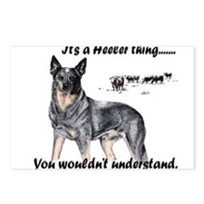 Cute Queensland heeler Postcards (Package of 8)