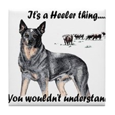 Cute Blue heeler Tile Coaster