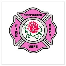 Firefighter Wife Poster