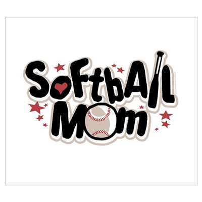 SOFTBALL MOM Canvas Art