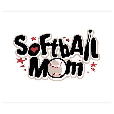 SOFTBALL MOM Poster