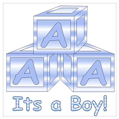 It's a Boy! Blue Blocks Framed Print