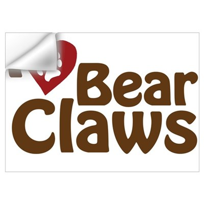 I Love Bear Claws Wall Decal