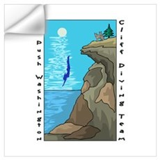 Cliff Diving Team Wall Decal