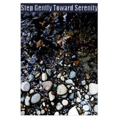 Step Gently Toward Serenity Poster