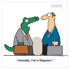 Litigator Framed Print