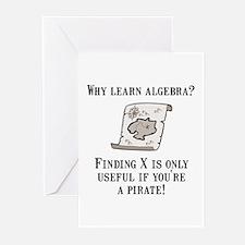 Algebra Pirate Greeting Cards (Pk of 10)