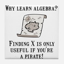 Algebra Pirate Tile Coaster