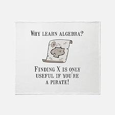 Algebra Pirate Throw Blanket