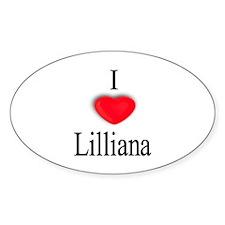 Lilliana Oval Decal