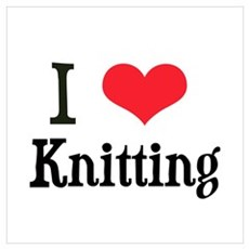 I Love Knitting Poster