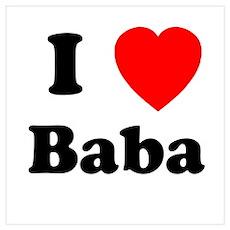 I heart Baba Poster