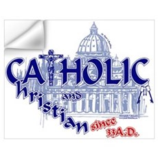Catholic and Christian (Blue) Wall Decal